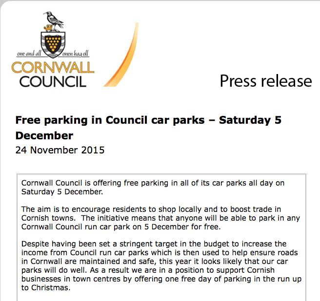 Freecarparkingpressrelease
